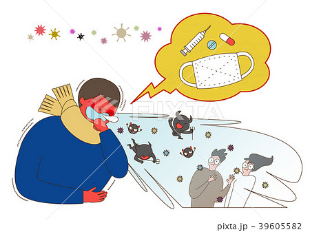 Disease prevention - Vector illustration about avoiding a disease 002 39605582
