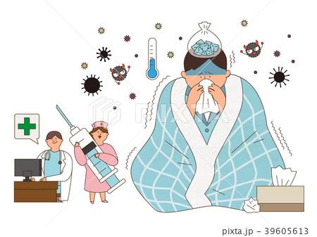 Disease prevention - Vector illustration about avoiding a disease 003 39605613