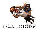 アメリカンフットボール 白背景 切り抜きの写真 39609849