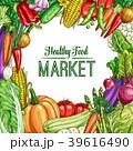野菜 スケッチ 図案のイラスト 39616490