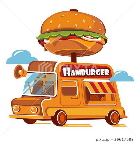 Good Burger Car. Fast food truck. 39617688