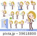 女性 ビジネス 金髪のイラスト 39618800