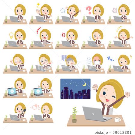 blond hair business women_desk work 39618801