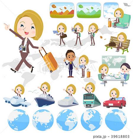 blond hair business women_travel 39618803