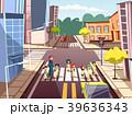 街路 通り 歩行者のイラスト 39636343