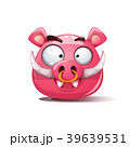 イノシシ 猪 ベクトルのイラスト 39639531