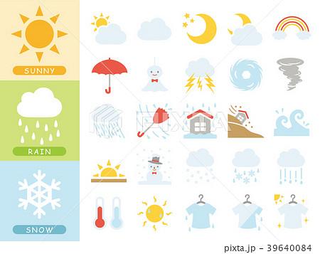 天気のアイコンセット 39640084