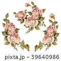 ローズ バラ 水彩画のイラスト 39640986