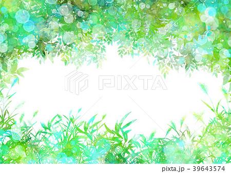 森の中夏フレームのイラスト素材 39643574 Pixta