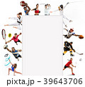 Sport collage about kickboxing, soccer, american 39643706