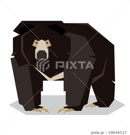Flat polygonal Sloth Bear 39646527