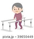 歩行訓練 シニア女性 39650449