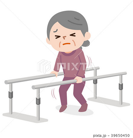歩行訓練 シニア女性 39650450