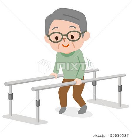 歩行訓練 シニア男性 39650587