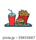 Sexy male waiter fast food restaurant 39650667