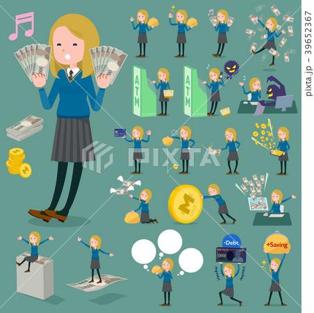 flat type school girl White_money 39652367