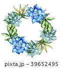 花 水彩画 背景のイラスト 39652495