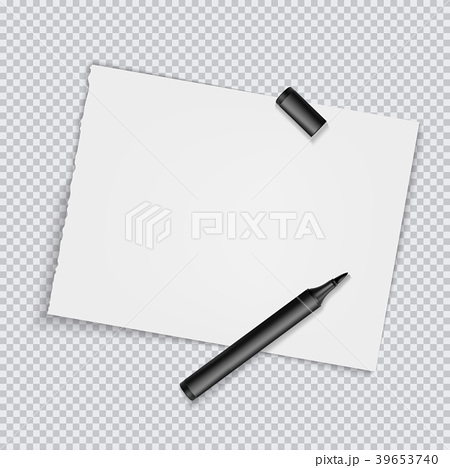 Blank torned off pages with marker. Vector 39653740