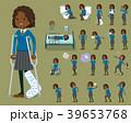 女性 学生 黒人のイラスト 39653768