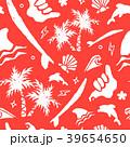サーフィン ベクトル シームレスのイラスト 39654650