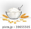 Bowl Of Wheat Flour Illustration 39655505
