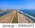 東京オリンピックサーフィン会場の町千葉県一宮町と長生村の海岸付近を空撮 39664453