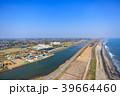 東京オリンピックサーフィン会場の町千葉県一宮町と長生村の海岸付近を空撮 39664460