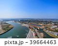 東京オリンピックサーフィン会場の町千葉県一宮町と長生村の海岸付近を空撮 39664463