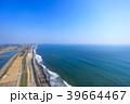 東京オリンピックサーフィン会場の町千葉県一宮町と長生村の海岸付近を空撮 39664467