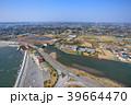 東京オリンピックサーフィン会場の町千葉県一宮町と長生村の海岸付近を空撮 39664470
