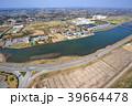 東京オリンピックサーフィン会場の町千葉県一宮町と長生村の海岸付近を空撮 39664478