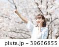 桜 女性 春の写真 39666855