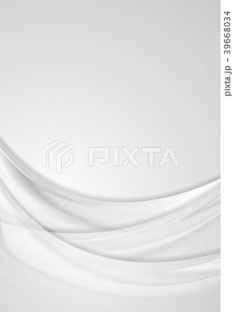 grey smooth waves abstract flyer backgroundのイラスト素材 39668034