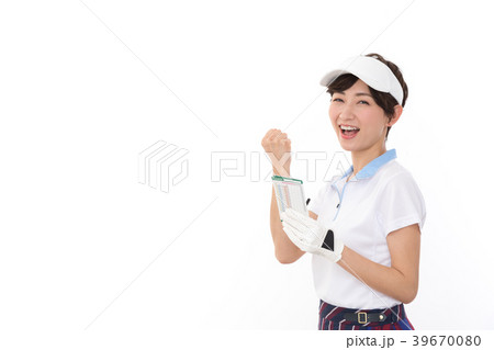 若い女性 ゴルフ 39670080