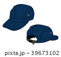 帽子(キャップ・ベースボールキャップ) イラスト/青・ネイビー 39673102