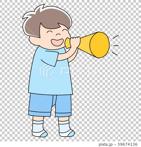 幼児3歳男の子_メガホン 39674136