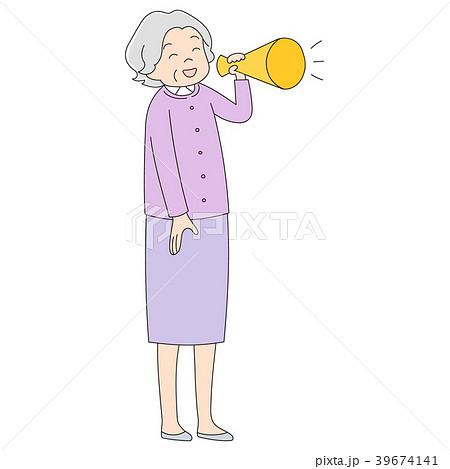 おばあちゃん_メガホン 39674141