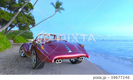 赤いスポーツカー 39677246