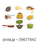 セット 組み合わせ 料理のイラスト 39677842