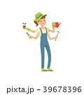 庭 庭園 庭師のイラスト 39678396