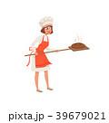 パン職人 女性 メスのイラスト 39679021
