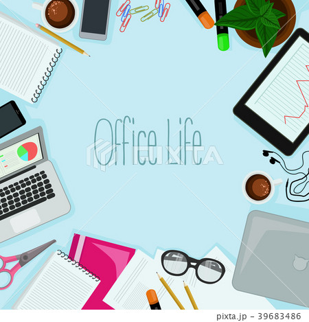 office objects vector 39683486