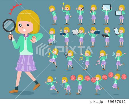 flat type blond hair girl white_2 39687012