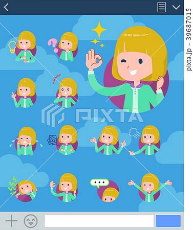 flat type blond hair girl white_sns 39687015