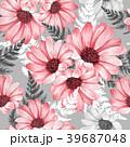 フローラル 花 柄のイラスト 39687048