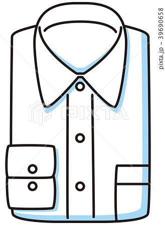 畳んだワイシャツ 39690658