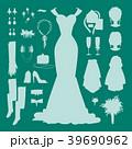 ウェディング 花嫁 アクセサリーのイラスト 39690962