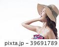 女性 夏 日差しの写真 39691789