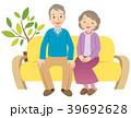 シニア 夫婦 老夫婦のイラスト 39692628