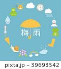 梅雨 アイコンのフレーム素材 39693542